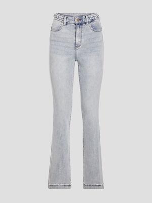 Jeans flare denim bleach femme