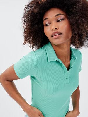 Polo manches courtes vert menthe femme