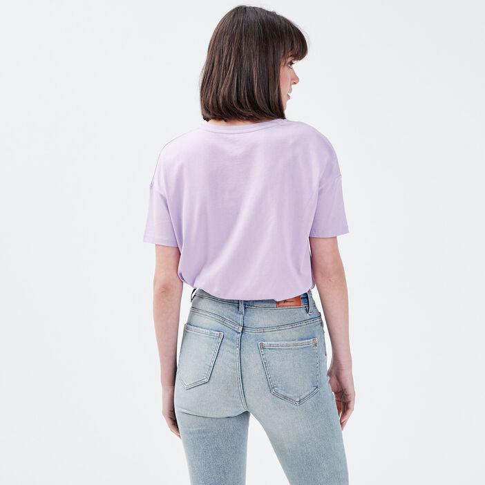 T-shirt manches courtes NASA mauve femme