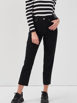 Jeans regular 78eme denim noir femme