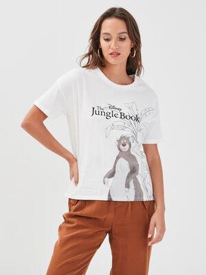 T shirt manches courtes Disney blanc femme
