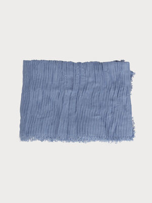 Foulard effet plisse denim bleach femme