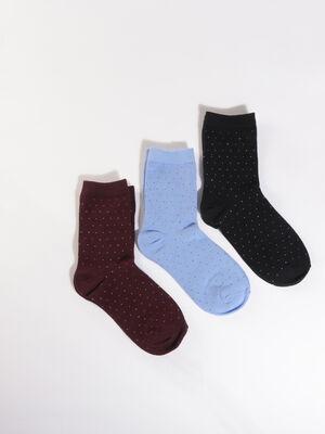 Lot 3 paires chaussettes bleu marine femme