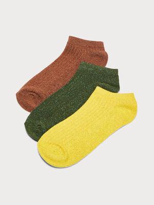 Lot 3 paires de chaussettes vert kaki femme