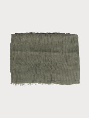 Foulard effet plisse vert fonce femme