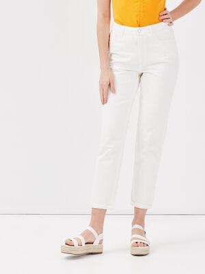 Jeans regular ecru femme