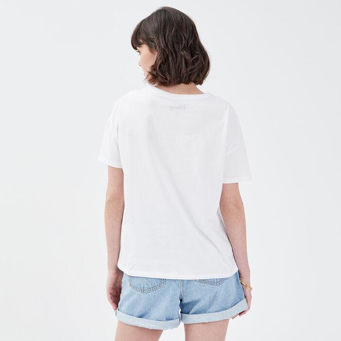 T-shirt Aladdin blanc femme