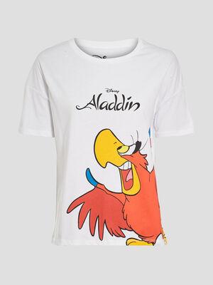 T shirt Aladdin blanc femme