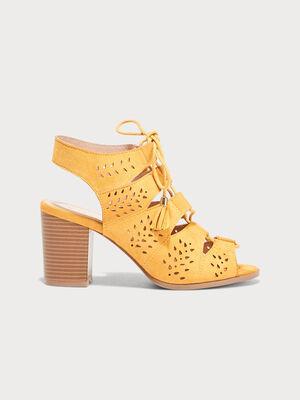 Sandales a talons ghillies jaune femme