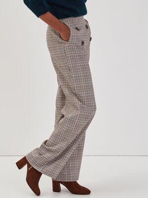 Pantalon droit a pont blanc femme