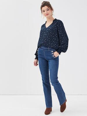 Jeans bootcut a pont denim double stone femme