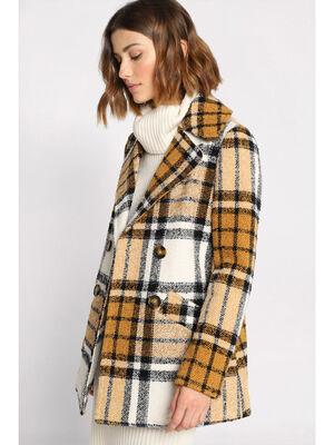 Manteau cintre boutonne blanc femme