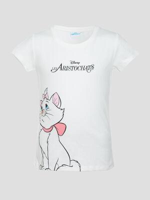 T shirt Les Aristochats ecru fille