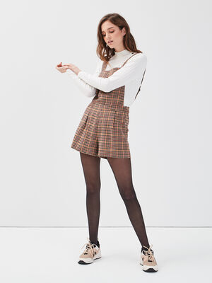 Salopette short ample blanc femme