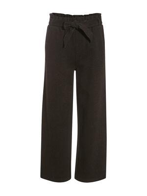 Pantalon large ceinture gris fonce femme