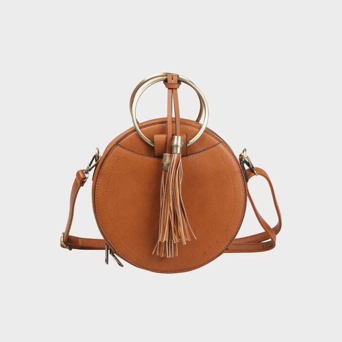 couleurs harmonieuses design élégant esthétique de luxe Sac besace rond avec pompons femme | Vib's