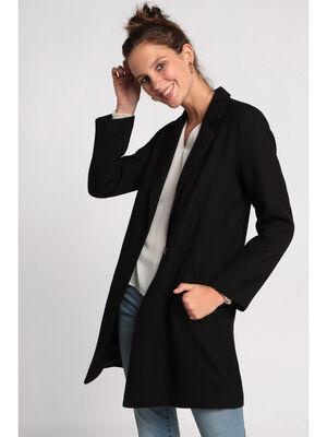 Manteau leger long noir femme