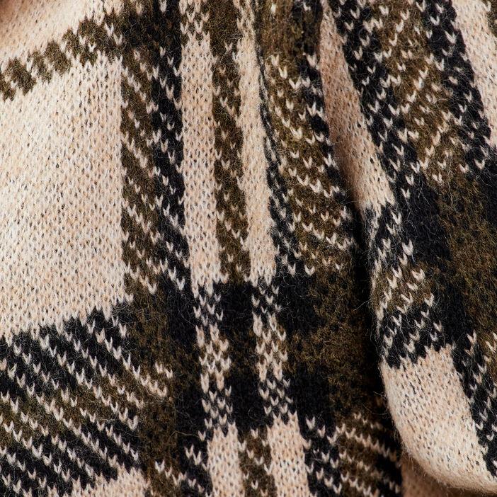 Gilet boutonné à capuche sable femme