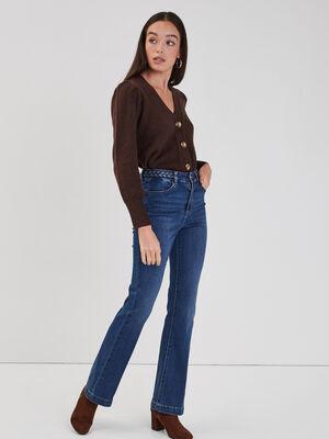 Jeans bootcut detail tresse denim double stone femme