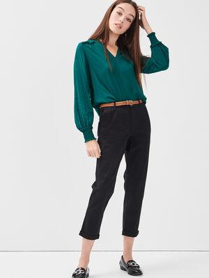 Pantalon chino 78eme noir femme