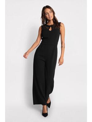 Combinaison pantalon cintree noir femme