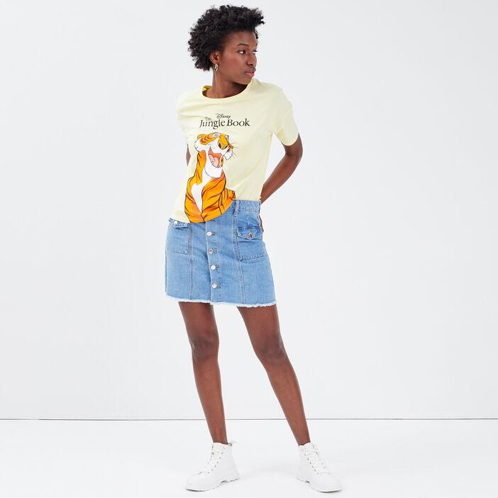 T-shirt Le Livre de la jungle jaune pastel femme