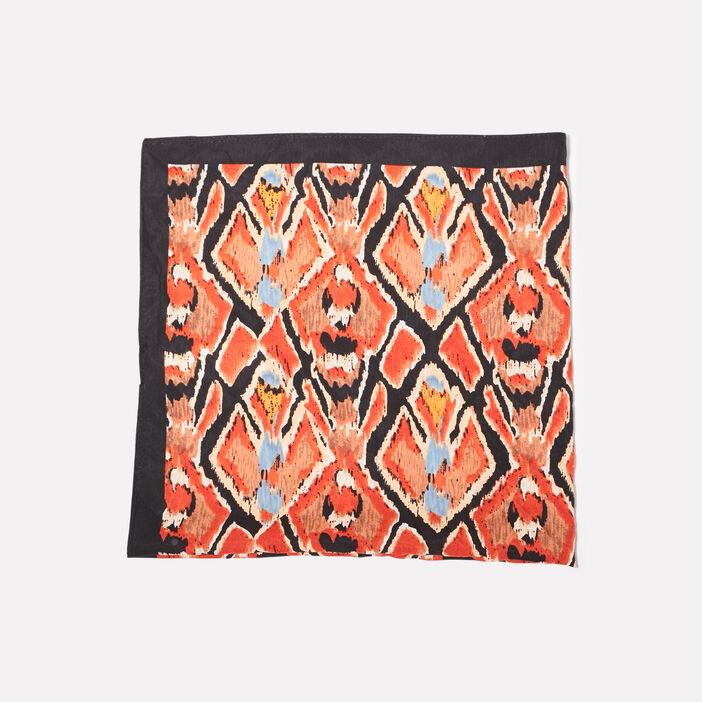 Foulard carré terracotta femme