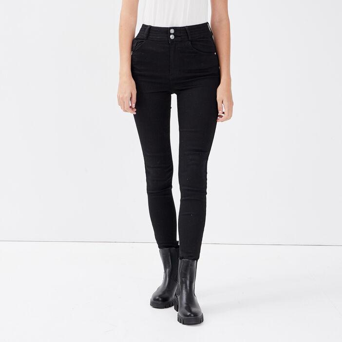 Jeans skinny push up denim noir femme