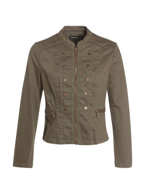 Veste cintree style officier vert kaki femme