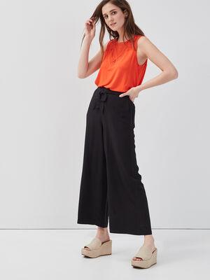 Pantalon large 78eme noir femme