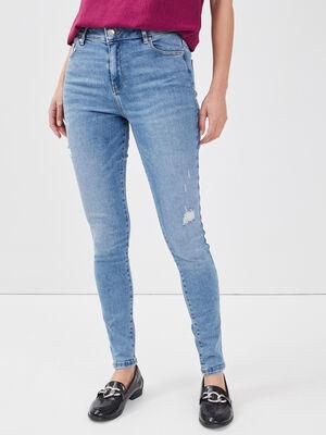 Jeans skinny 5 poches denim double stone femme