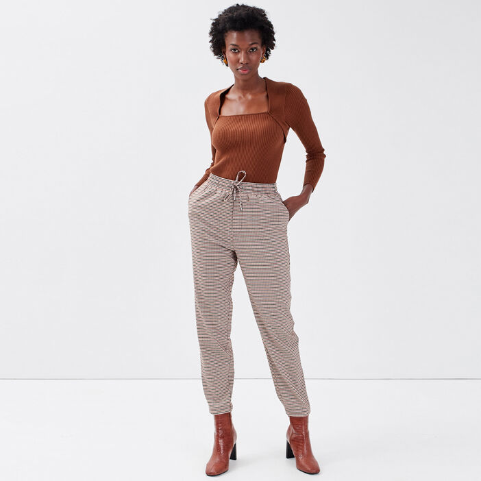 Pantalon jogging beige femme