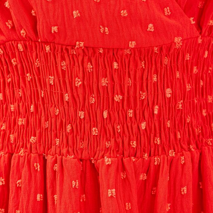 Robe évasée avec bretelles orange femme