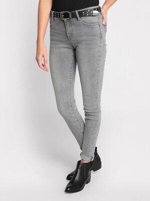 Jean skinny denim gris femme
