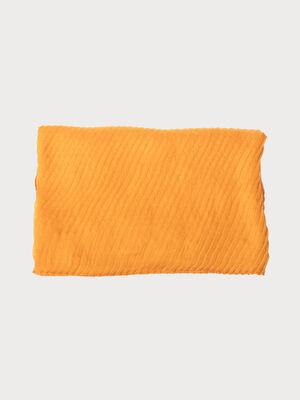 Foulard jaune moutarde femme