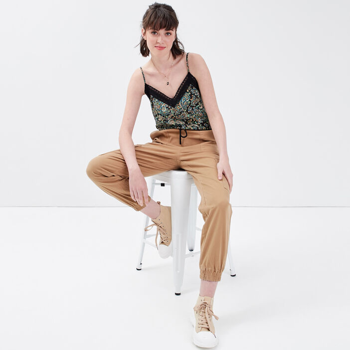 Pantalon battle beige femme