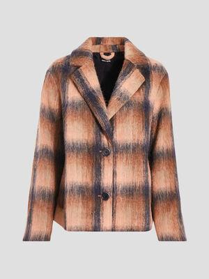 Manteau ample boutonne noir femme