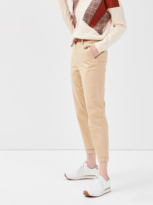 Pantalon chino 78eme beige femme