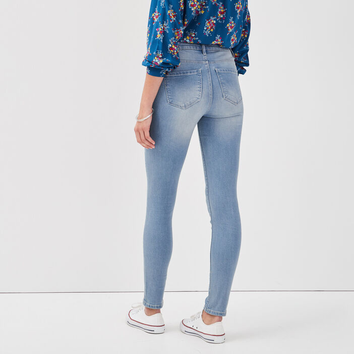 Jeans slim denim dirty femme