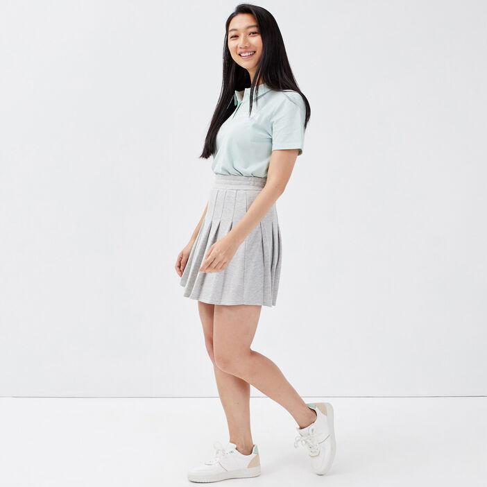 Polo manches courtes vert clair femme