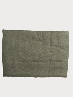 Foulard maille fils metallises vert fonce femme