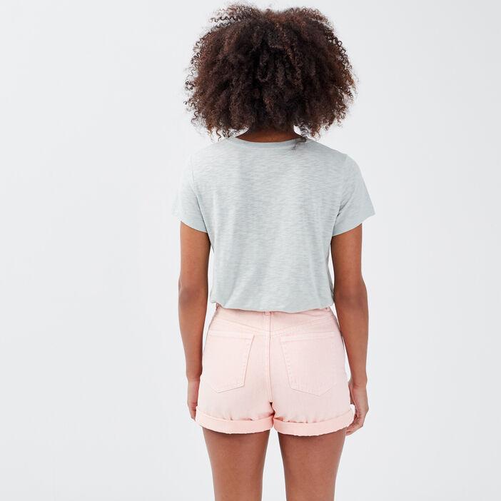 T-shirt manches courtes vert clair femme