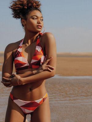 Bas de maillot de bain orange corail femme