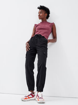 Pantalon battle noir femme