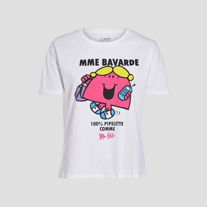 T-shirt Monsieur Madame blanc femme