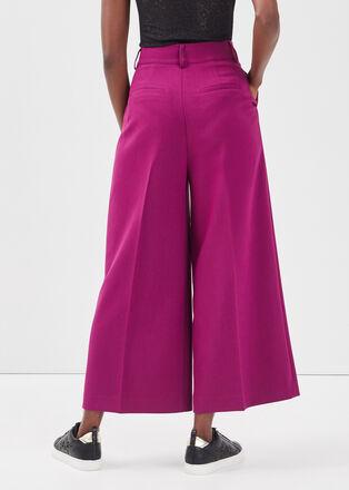 Pantalon droit 78eme violet fonce femme