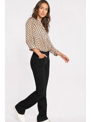 Jeans bootcut a 5 poches denim noir femme
