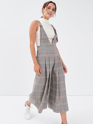 Combinaison pantalon large blanc femme