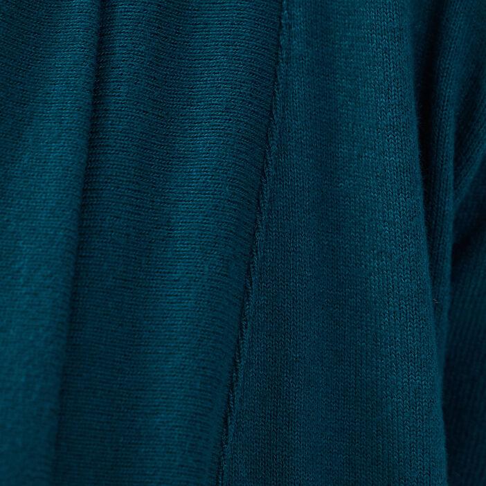Gilet col châle maille chinée vert canard femme