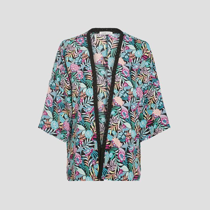 Veste kimono ample noir femme